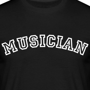 musician curved college style logo - Men's T-Shirt