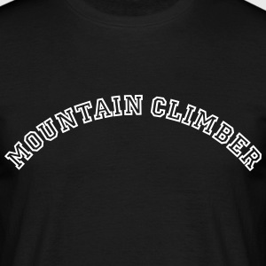 mountain climber curved college style lo - Männer T-Shirt