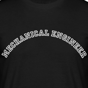 mechanical engineer curved college style - Männer T-Shirt