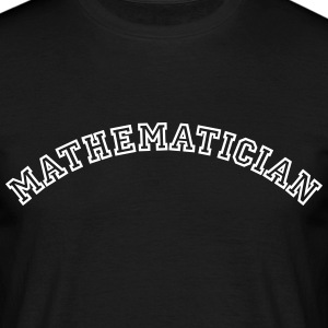 mathematician curved college style logo - Men's T-Shirt