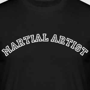 martial artist curved college style logo - Men's T-Shirt