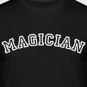 magician curved college style logo - Men's T-Shirt