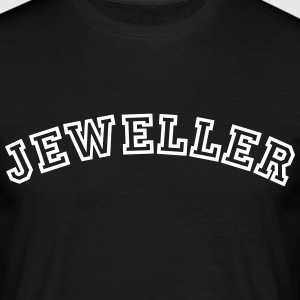jeweller curved college style logo - Men's T-Shirt