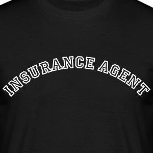 insurance agent curved college style log - Men's T-Shirt