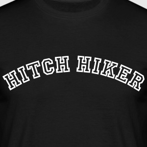 hitch hiker curved college style logo - Men's T-Shirt