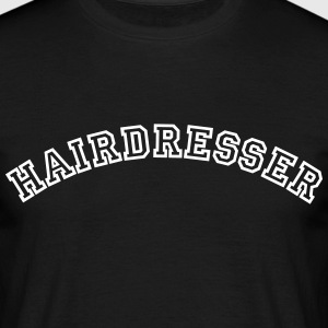 hairdresser curved college style logo - Men's T-Shirt
