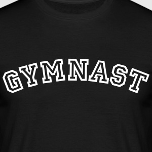 gymnast curved college style logo - Men's T-Shirt