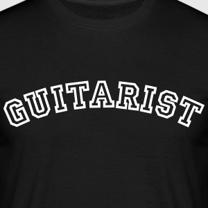 guitarist curved college style logo - Men's T-Shirt