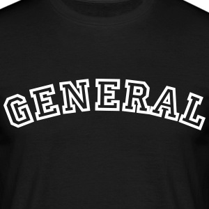 general curved college style logo - Men's T-Shirt