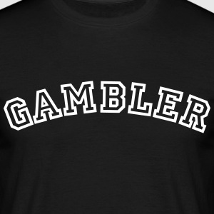 gambler curved college style logo - Men's T-Shirt