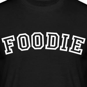 foodie curved college style logo - Men's T-Shirt