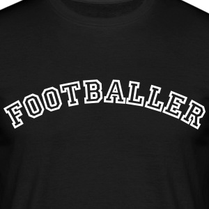 footballer curved college style logo - Men's T-Shirt