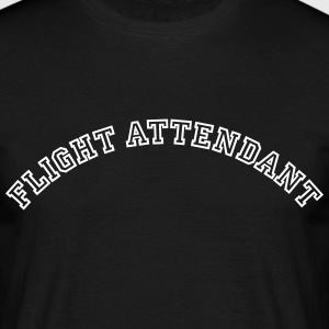 flight attendant curved college style lo - Männer T-Shirt