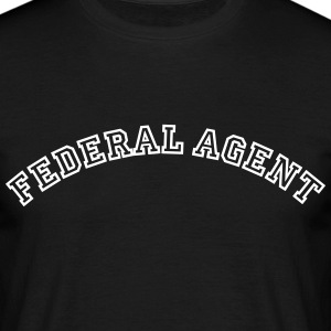 federal agent curved college style logo - Men's T-Shirt