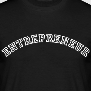 entrepreneur curved college style logo - Men's T-Shirt