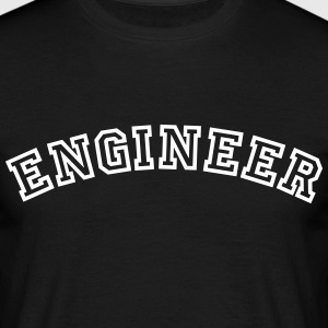 engineer curved college style logo - Männer T-Shirt
