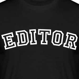 editor curved college style logo - Männer T-Shirt