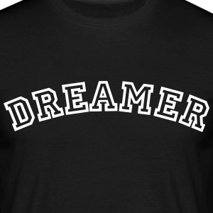 dreamer curved college style logo - Men's T-Shirt