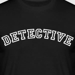 detective curved college style logo - Men's T-Shirt