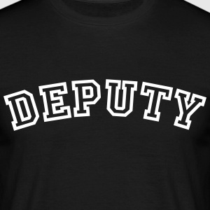 deputy curved college style logo - Men's T-Shirt