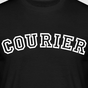 courier curved college style logo - Men's T-Shirt