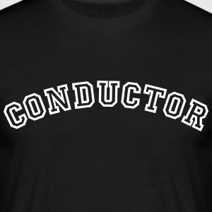 conductor curved college style logo - Men's T-Shirt