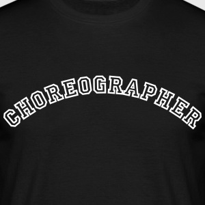 choreographer curved college style logo - Men's T-Shirt