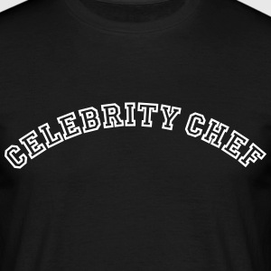 celebrity chef curved college style logo - Men's T-Shirt