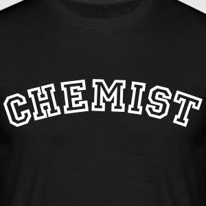 chemist curved college style logo - Men's T-Shirt