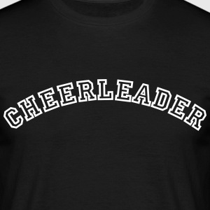cheerleader curved college style logo - Men's T-Shirt