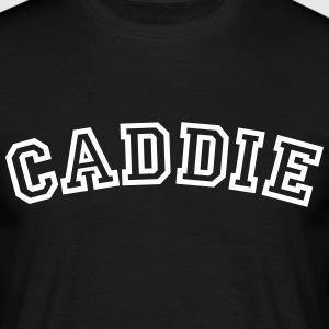 caddie curved college style logo - Men's T-Shirt