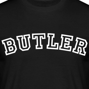 butler curved college style logo - Men's T-Shirt