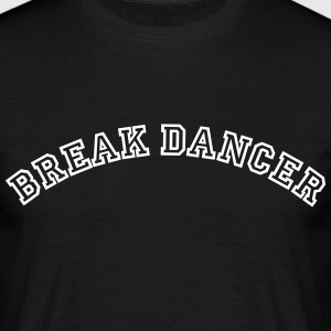 break dancer curved college style logo - Männer T-Shirt