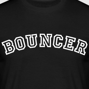 bouncer curved college style logo - Men's T-Shirt