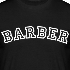 barber curved college style logo - Men's T-Shirt