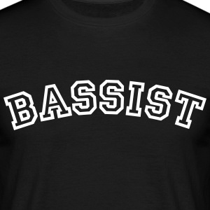 bassist curved college style logo - Men's T-Shirt