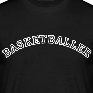 basketballer curved college style logo - Männer T-Shirt