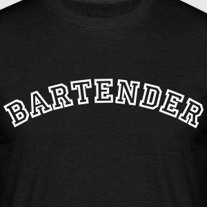 bartender curved college style logo - Men's T-Shirt