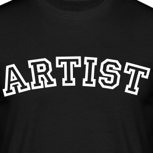 artist curved college style logo - Men's T-Shirt