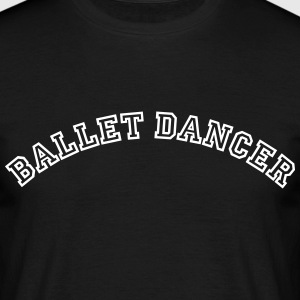 ballet dancer curved college style logo - Men's T-Shirt