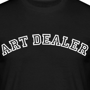art dealer curved college style logo - Männer T-Shirt