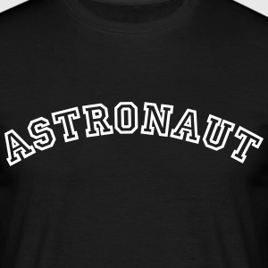 astronaut curved college style logo - Men's T-Shirt