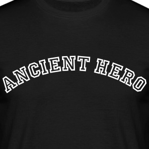 ancient hero curved college logo - Men's T-Shirt