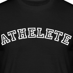 athelete curved college style logo - Men's T-Shirt