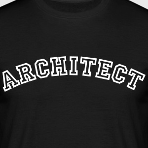 architect curved college style logo - Men's T-Shirt