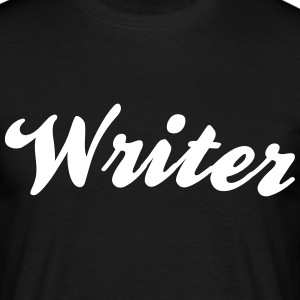 writer cool curved logo - Männer T-Shirt