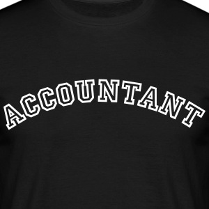 accountant curved college logo - Men's T-Shirt