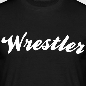 wrestler cool curved logo - Men's T-Shirt