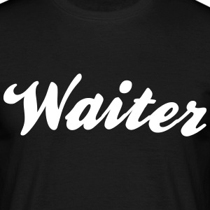waiter cool curved logo - Men's T-Shirt