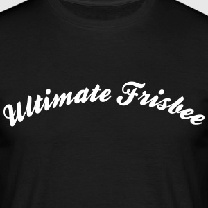 ultimate frisbee cool curved logo - Männer T-Shirt